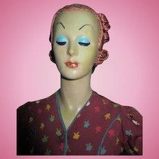 "27"" Art Deco Fashion Dress Model Counter Top Mannequin"