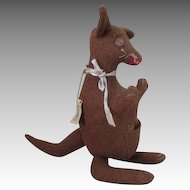 Vintage Wool Toy Kangaroo