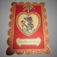 Sweet Antique Valentine Box
