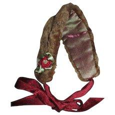 Pretty Fur Bonnet for Your French Fashion Doll