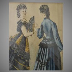 Stunning Godey's Ladies Print - Framed and Matted