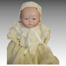 Rare Gerling Bisque Head Breather Baby Doll - Open Nostrils