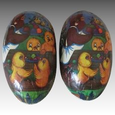 Very Large Vintage Papier Mache Easter Egg for Your Antique Dolls