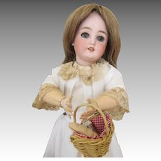 "Gorgeous 18"" CM Bergmann Simon Halbig Bisque Head Doll"