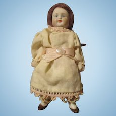 Sweet Miniature All Bisque Doll Marked 9772