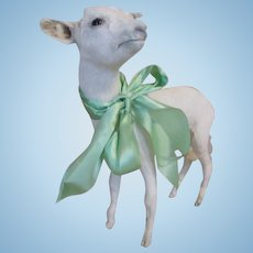 Vintage Taxidermy Baby Goat To Display with Your Dolls