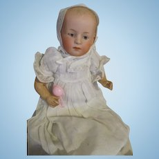 """Darling 8"""" Heubach Baby in Christening Gown"""