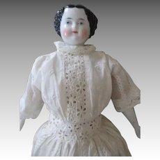 Stunning Flat Top China Head Doll