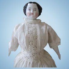 Stunning Flat Top China Head Doll