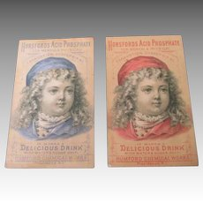 Sweet Antique Trade Cards with Darling Doll Faces