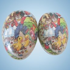 Vintage German Paper Mache Easter Egg To Display Your Doll In