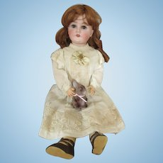 Antique German Queen Louise Bisque Head Doll