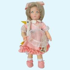 Lenci Aurelia Doll holding her Swan