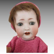 Adorable Kley & Hahn 167 Bisque Head Baby Doll