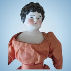 Beautiful Antique China Head Doll in Her Original Dress