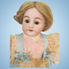 Lovely Antique Bisque Head Doll with Stunning Outfit