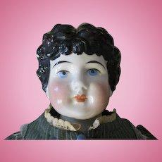 Antique Kling China Head Doll in Pretty Dress