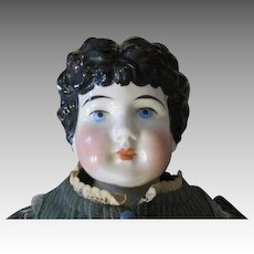 Antique Kling China Head Doll in Pretty Dress