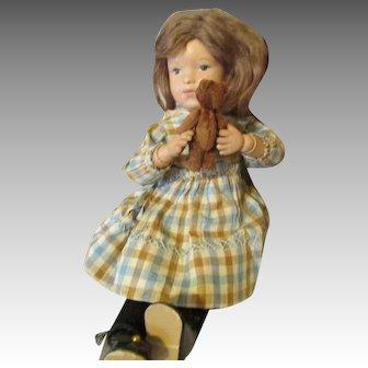 """Darling 15"""" Schoenhut Doll with Teddy Bear"""