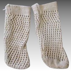 Antique Cotton Doll Stockings