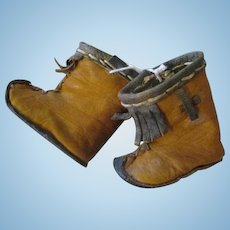 Antique Leather Doll Boots