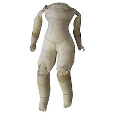 Antique Leather Doll Body with Lots of Curves