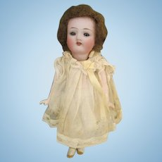 """Darling 6"""" Antique Bisque Head Doll with Glass Eyes"""
