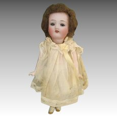 "Darling 6"" Antique Bisque Head Doll with Glass Eyes"