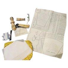 Vintage Wooden Doll Making Kit