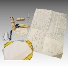 Vintage Wooden Doll Making Kit