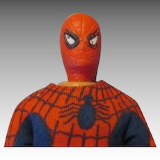 Vintage 1974 Spiderman Character Action Figure Doll