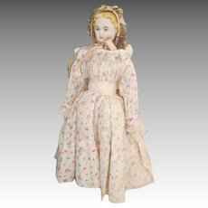 Beautiful Blond Parian Doll with Lovely Expression