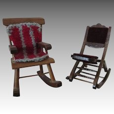 Doll House Rocking Chairs