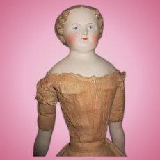 "Stunning 26"" Blond Parian Antique Doll"