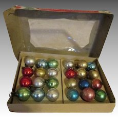 Tiny 15mm Vintage Christmas Bulbs for Your Doll's Christmas Tree