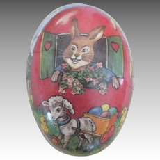 Antique Paper Mache Easter Egg