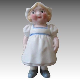 Sweet Bonnet Head Bisque Head Doll