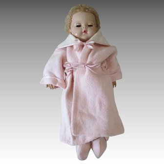 Pink Eiderdown Robe and Slippers for Dy-Dee Baby