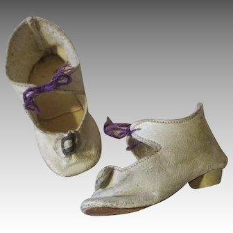 Heeled Antique Doll Shoes for Your French Fashion Dolls