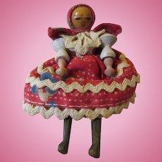 "Amazing 2.5"" Miniature Wooden Doll"