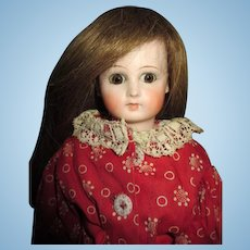 Unusual Antique Flange Neck Belton Doll with Closed Mouth