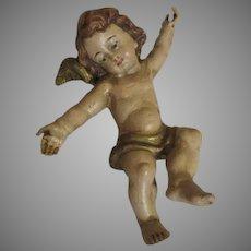 Antique Carved Cherub or Putti for Your Creche