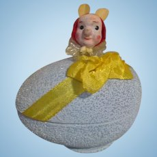 Adorable Paper Mache Egg with Bunny Popping Out