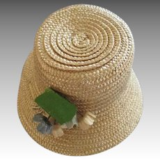 Straw Doll Bonnet for our Your Antique Doll