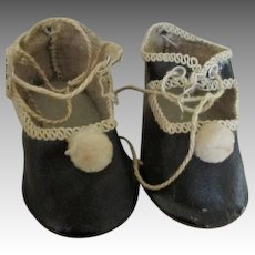"""Antique Doll Shoes Stamped """"Germany"""""""