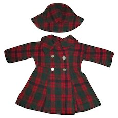 Vintage Wool Coat and Hat for Your Vintage Doll