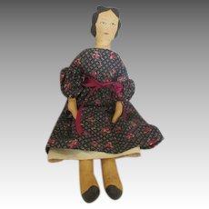 Vintage Artist Made Cloth Doll