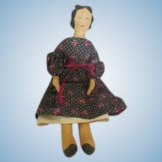 Vintage Artist Made Cloth Doll