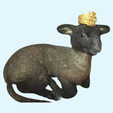 Little Black Taxidemy Lamb for Your Dolls' Companion
