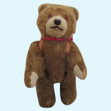 """Sweet 8"""" Antique Teddy Bear with Back Pack"""